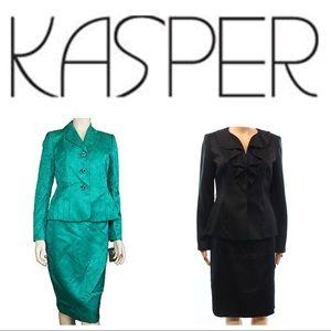 2 x Kasper Skirt Suit Size 4